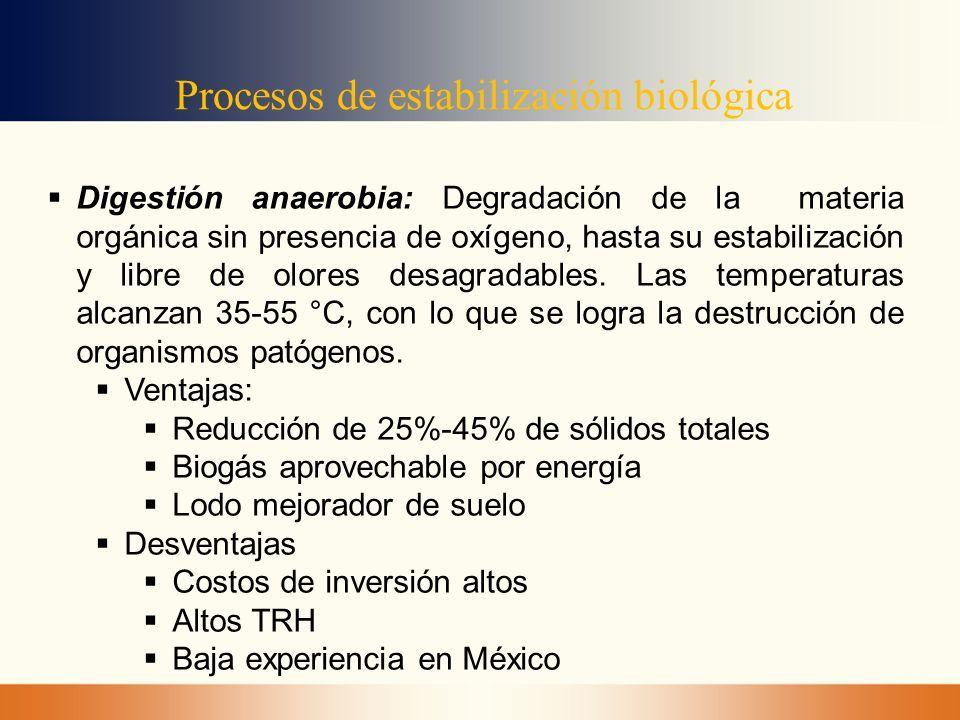 Procesos de estabilización biológica