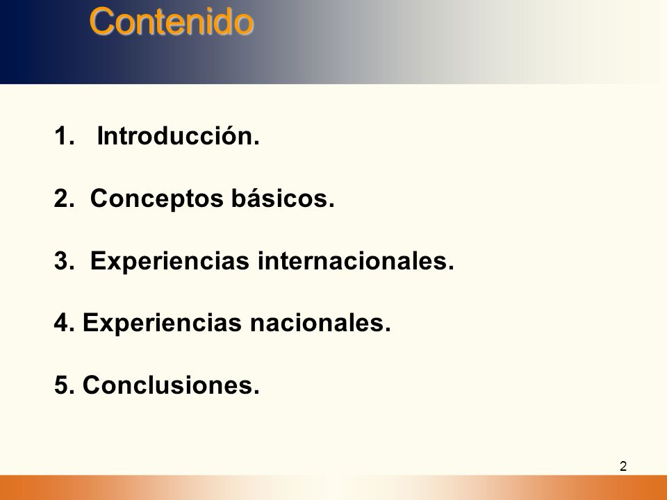 Contenido 1. Introducción. 2. Conceptos básicos.