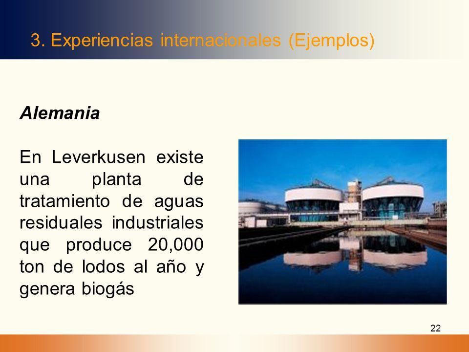 3. Experiencias internacionales (Ejemplos)