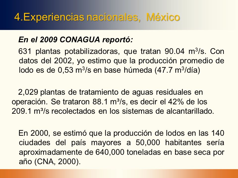 4.Experiencias nacionales, México