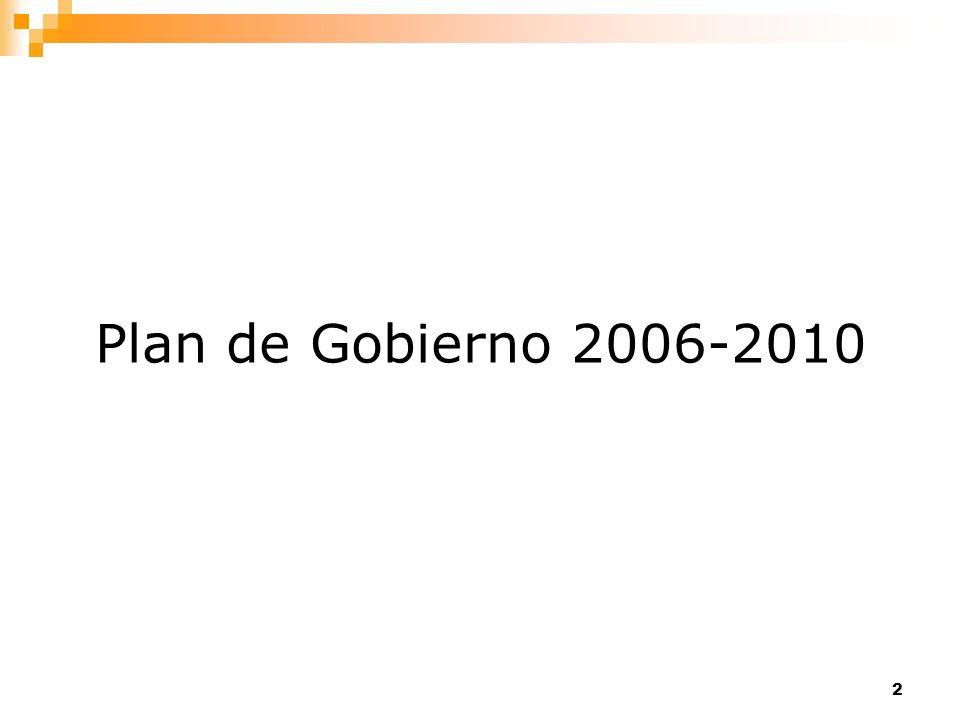 Plan de Gobierno 2006-2010