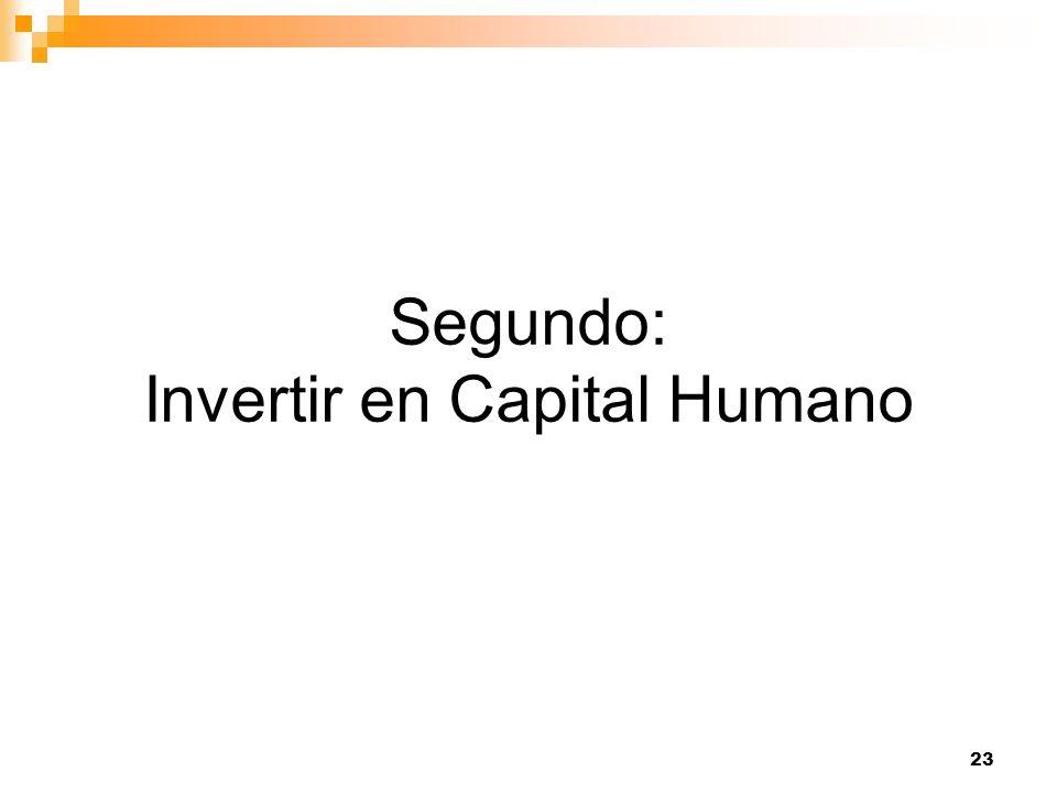 Segundo: Invertir en Capital Humano