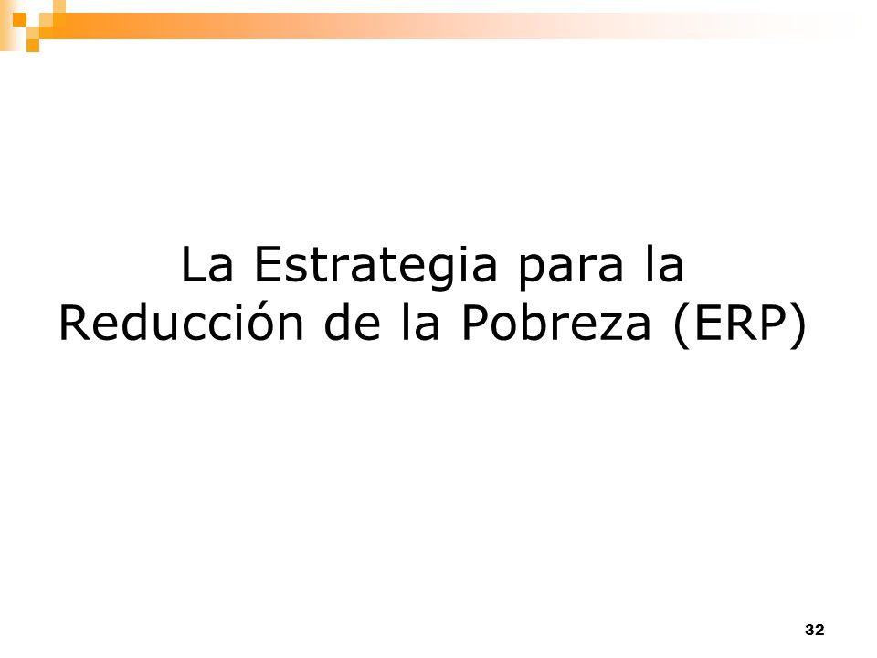 La Estrategia para la Reducción de la Pobreza (ERP)
