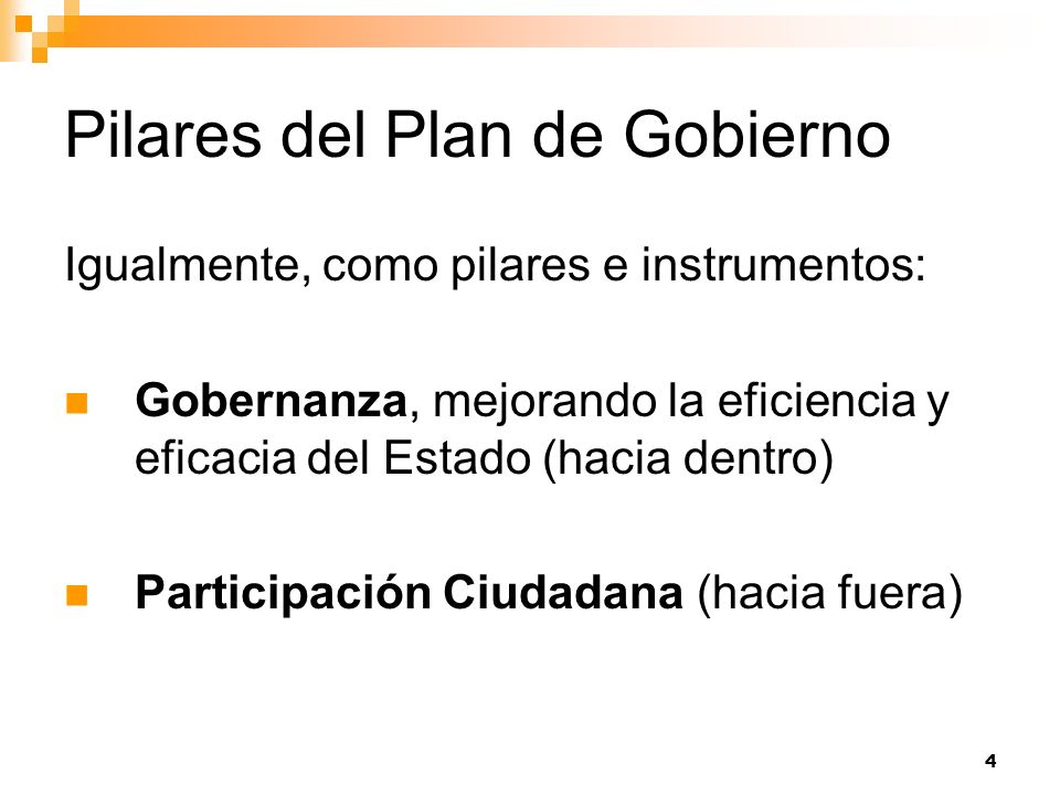 Pilares del Plan de Gobierno