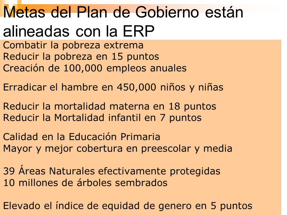 Metas del Plan de Gobierno están alineadas con la ERP