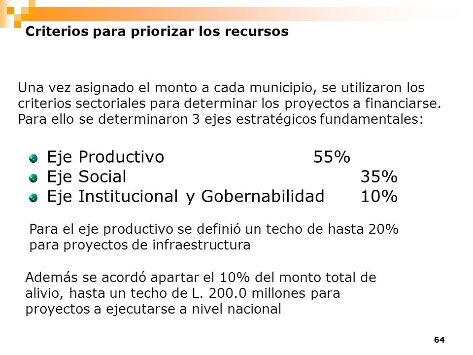 Eje Institucional y Gobernabilidad 10%