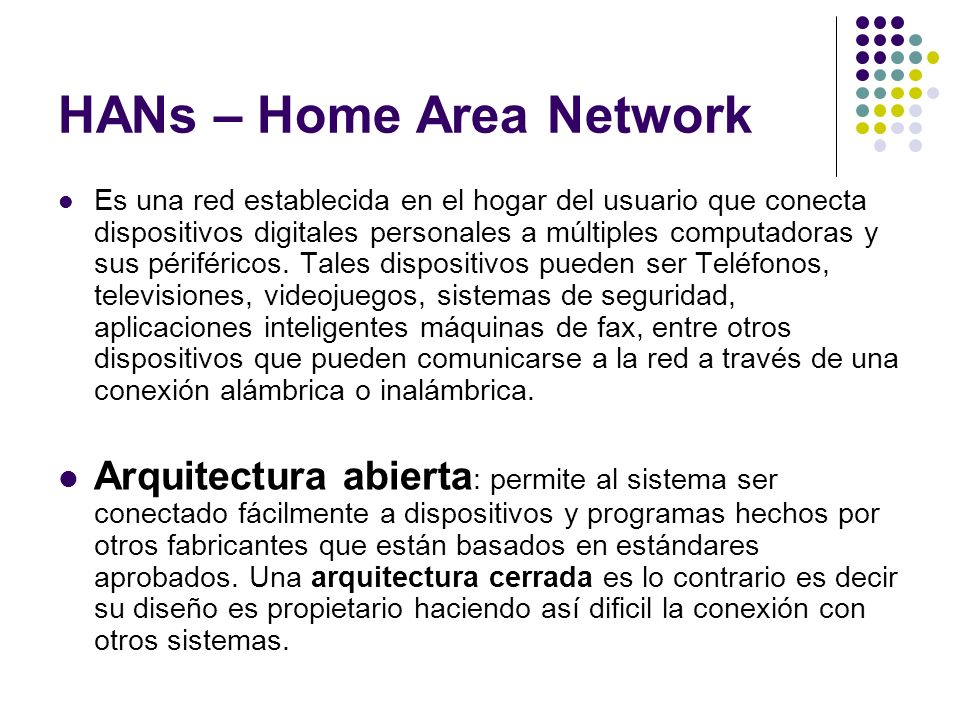 HANs – Home Area Network