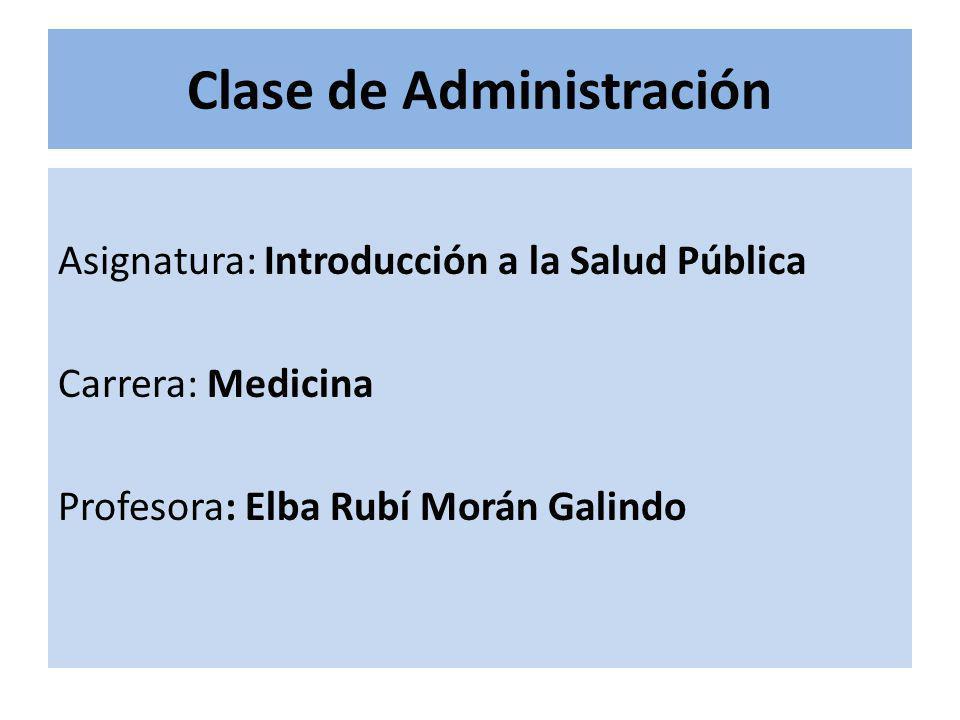 Clase de Administración