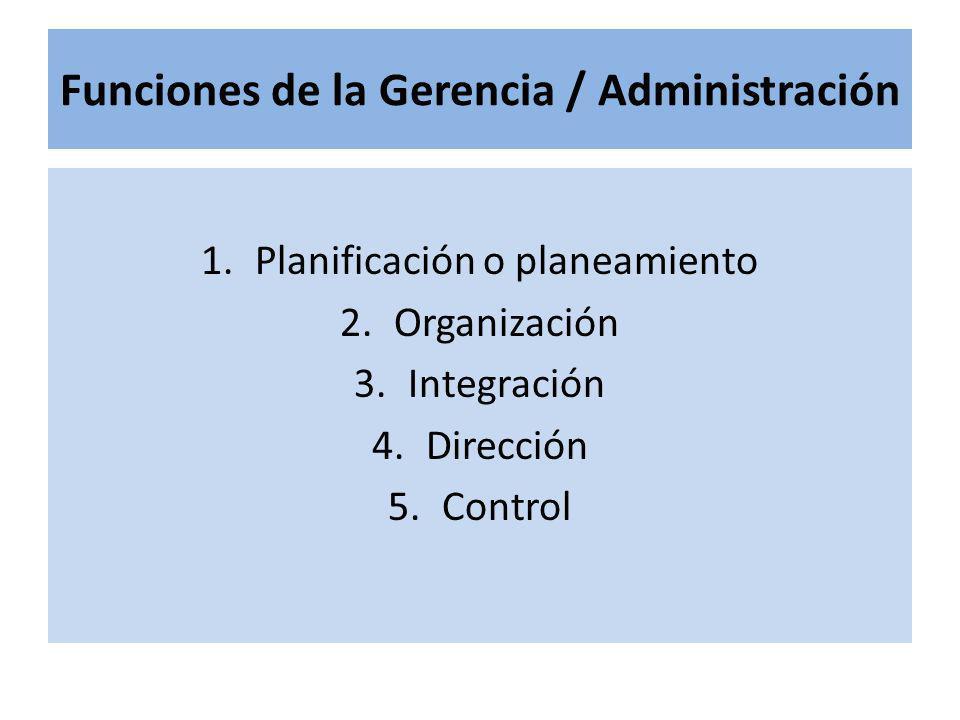 Funciones de la Gerencia / Administración