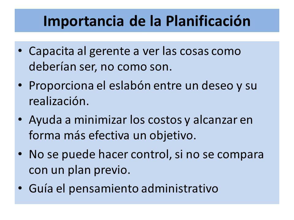 Importancia de la Planificación