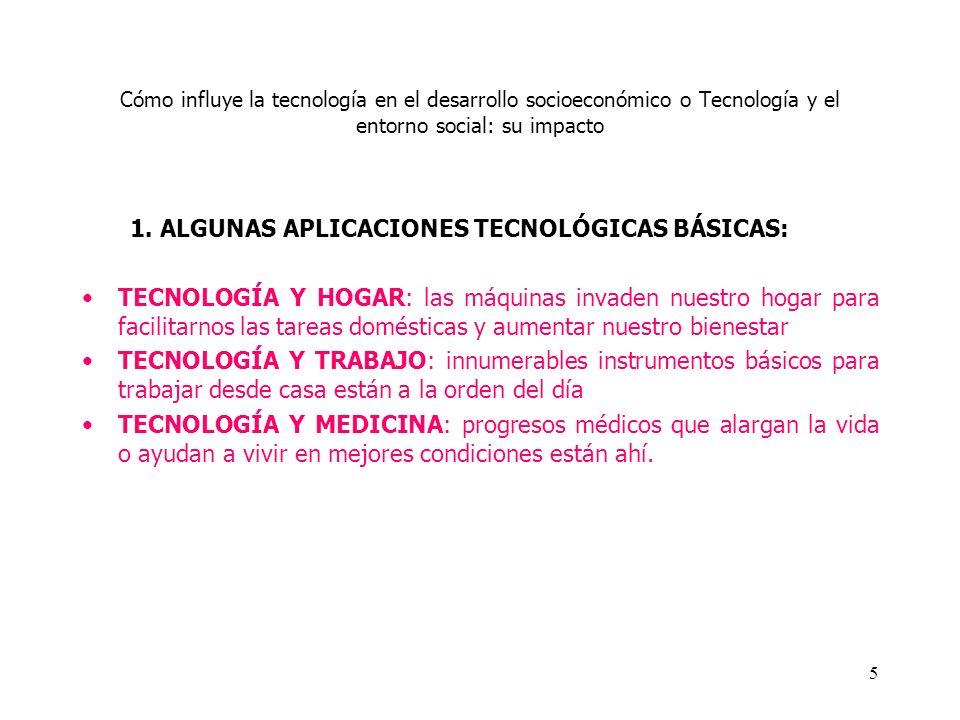 1. ALGUNAS APLICACIONES TECNOLÓGICAS BÁSICAS: