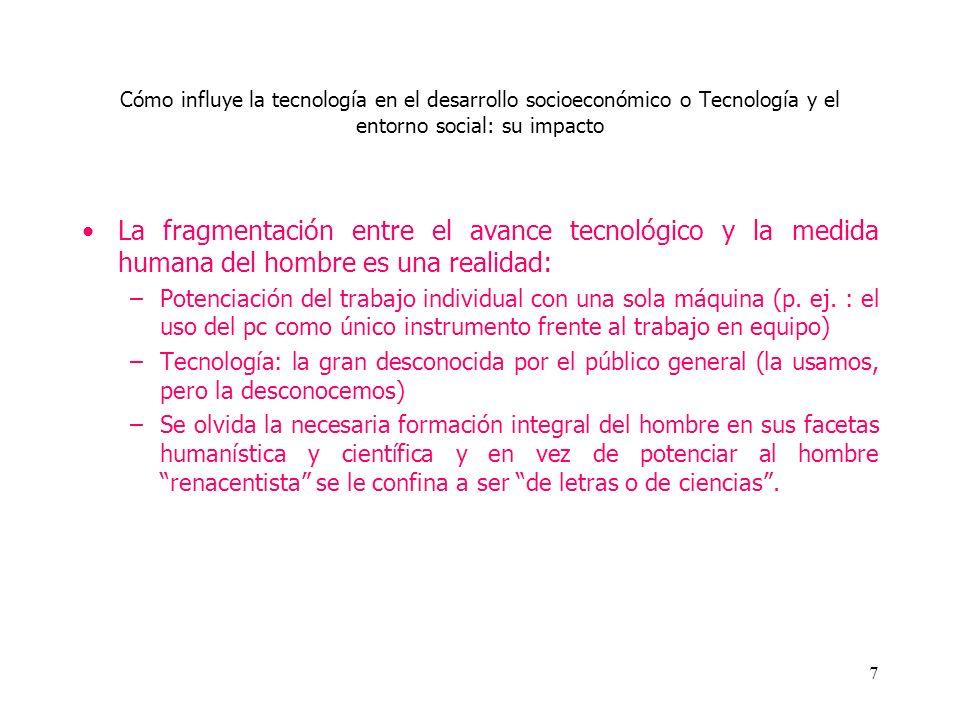 Cómo influye la tecnología en el desarrollo socioeconómico o Tecnología y el entorno social: su impacto