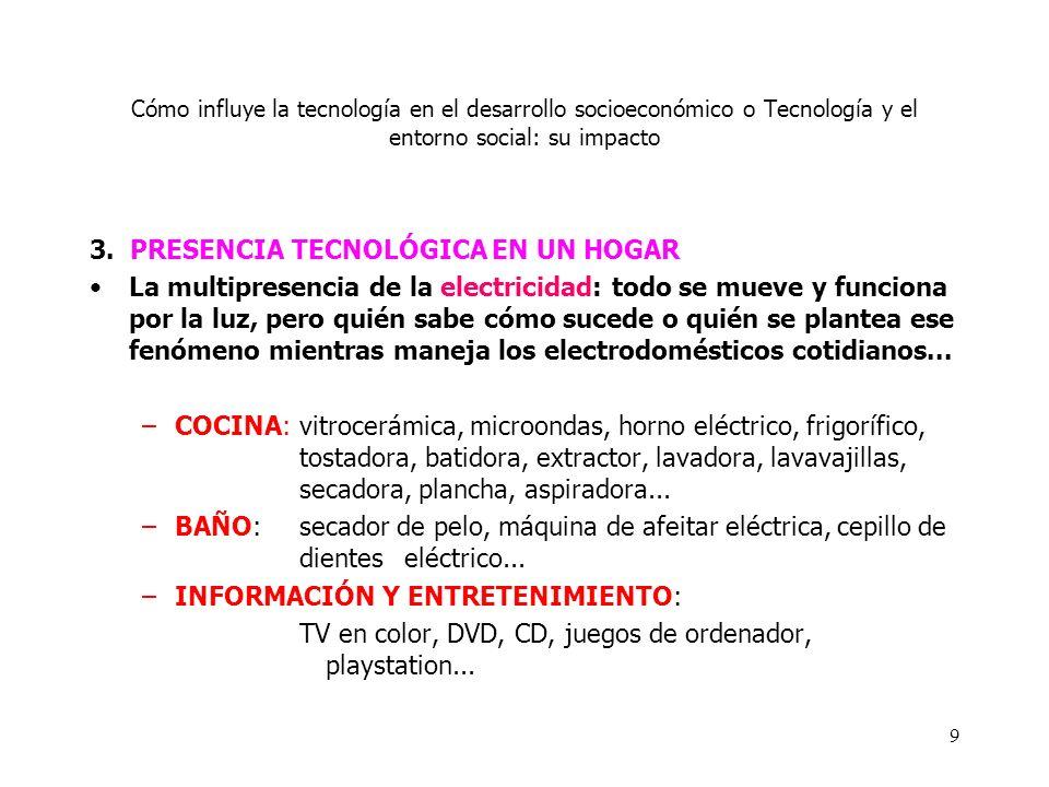 3. PRESENCIA TECNOLÓGICA EN UN HOGAR