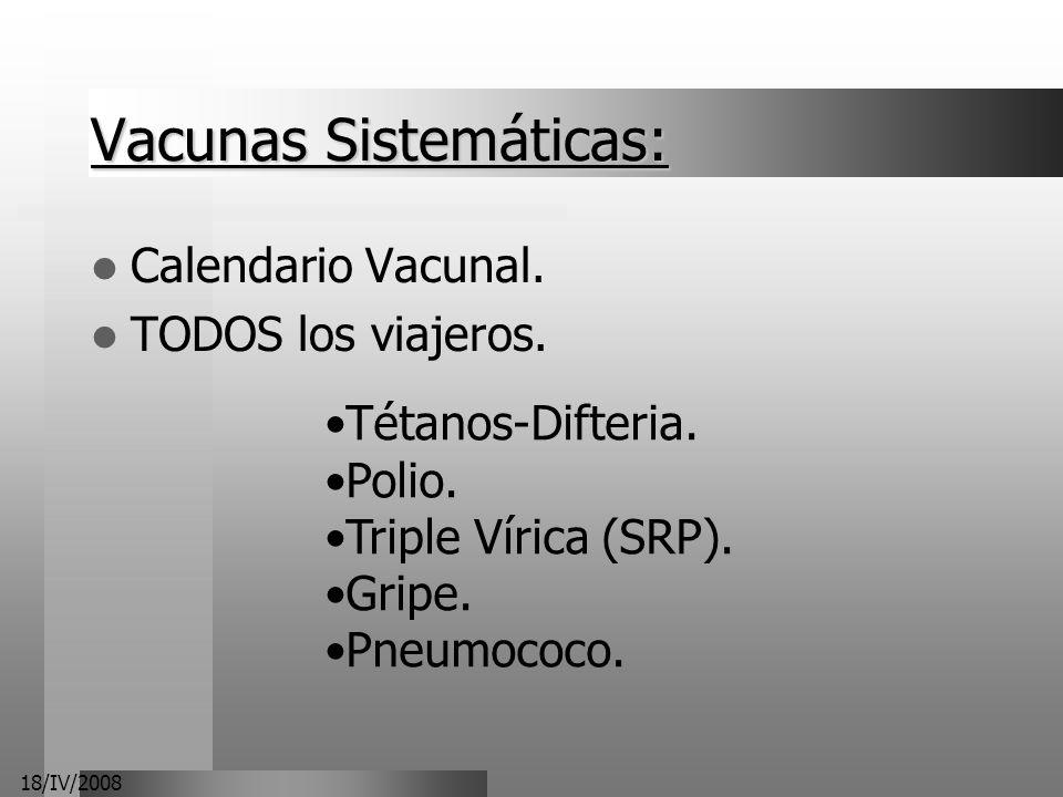 Vacunas Sistemáticas:
