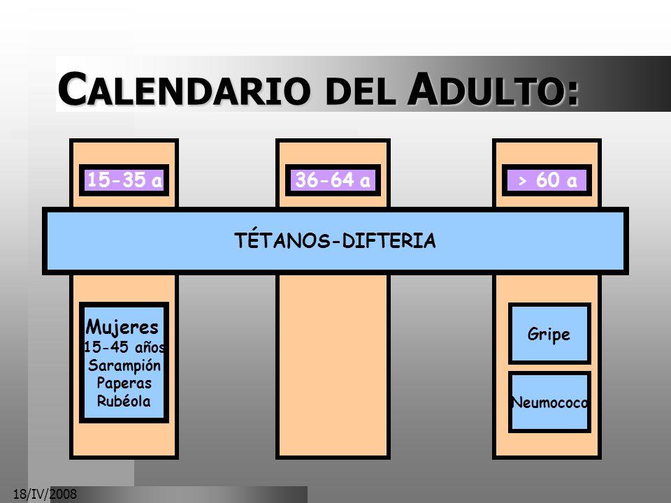 CALENDARIO DEL ADULTO: