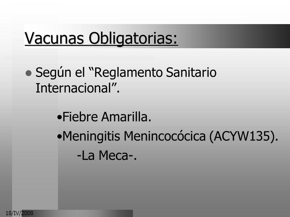 Vacunas Obligatorias: