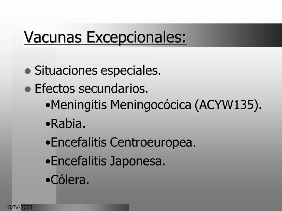 Vacunas Excepcionales: