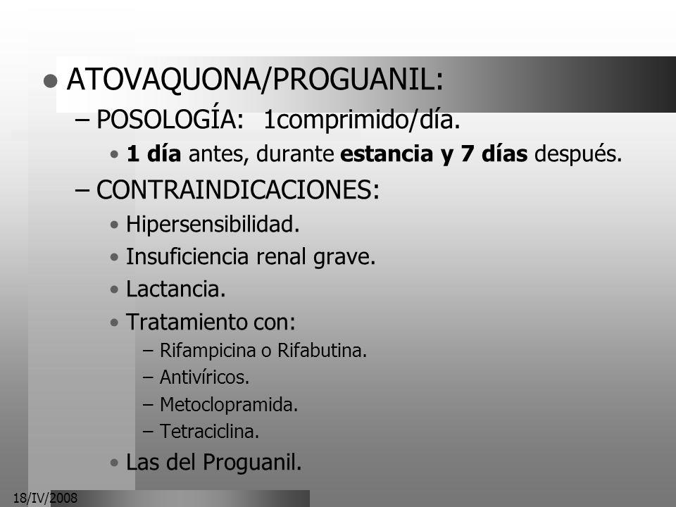 ATOVAQUONA/PROGUANIL: