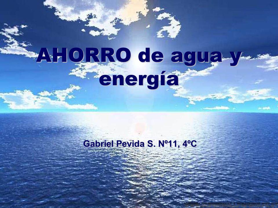 AHORRO de agua y energía