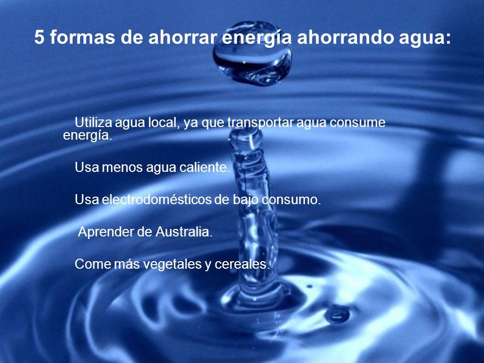 5 formas de ahorrar energía ahorrando agua: