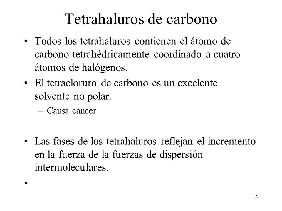 Tetrahaluros de carbono