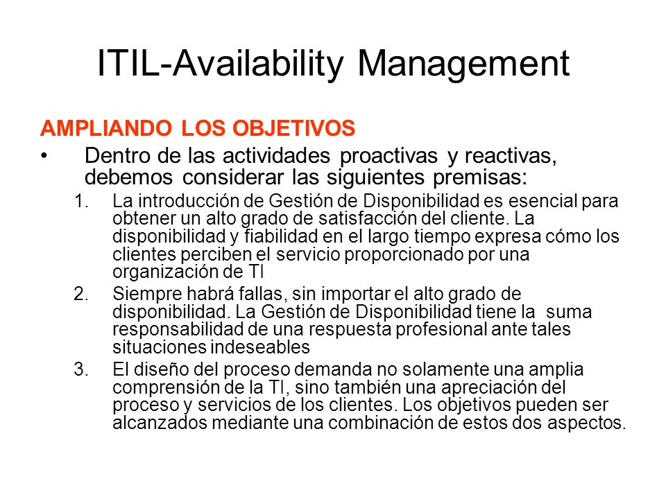 ITIL-Availability Management