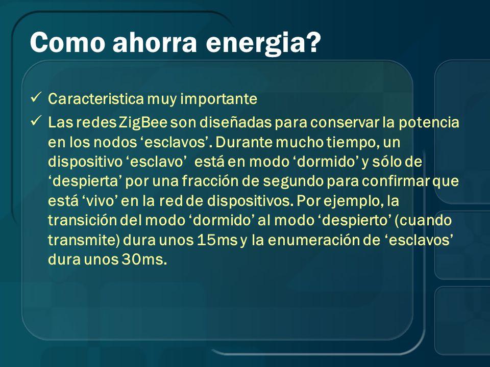 Como ahorra energia Caracteristica muy importante