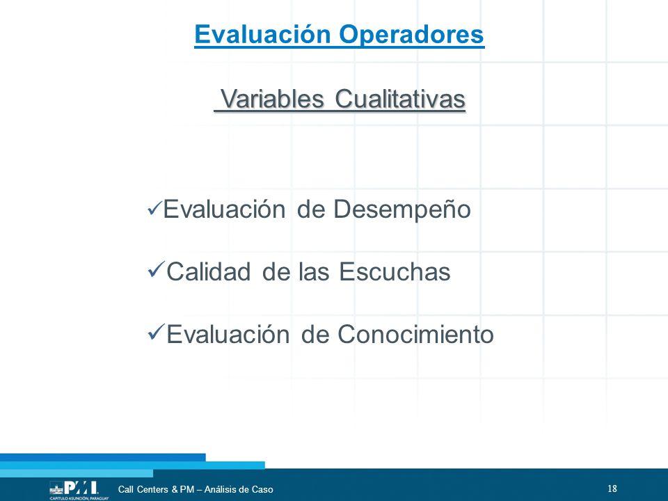 Evaluación Operadores
