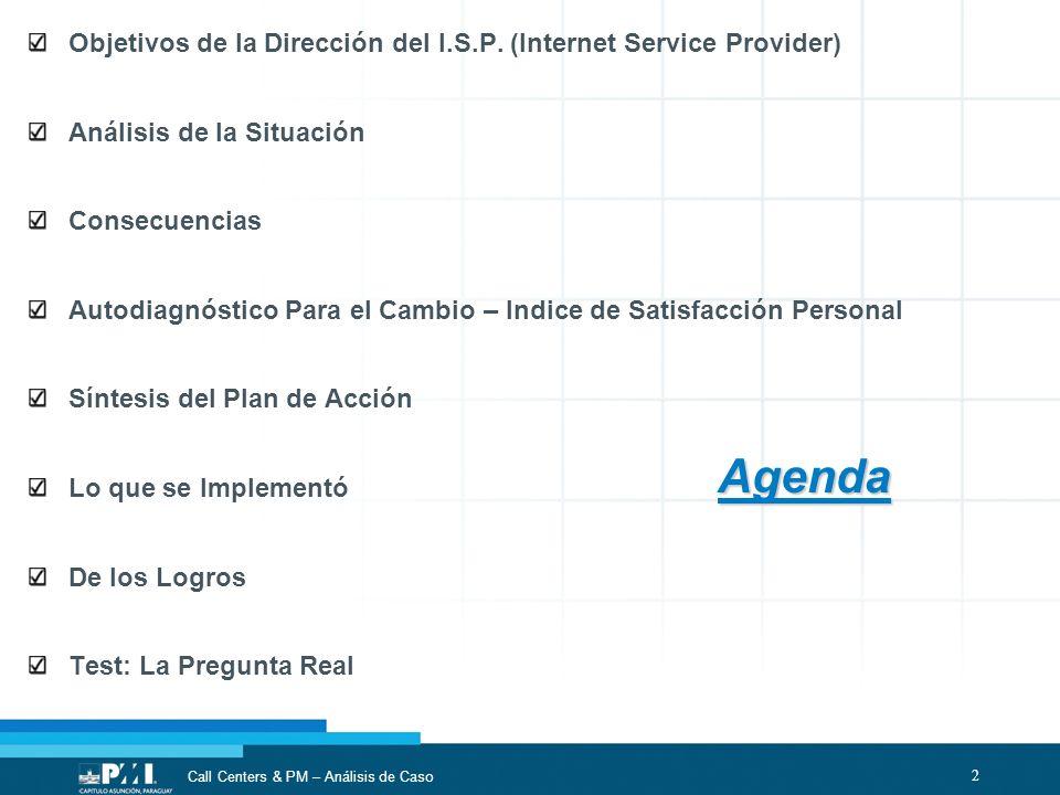 Objetivos de la Dirección del I.S.P. (Internet Service Provider)