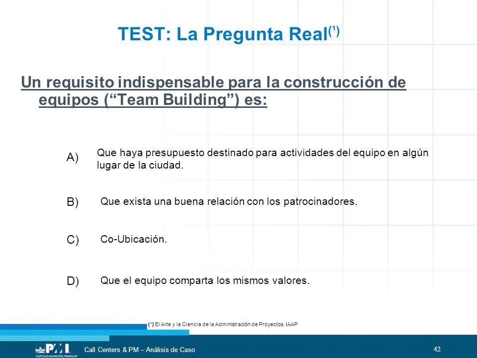 TEST: La Pregunta Real(¹)