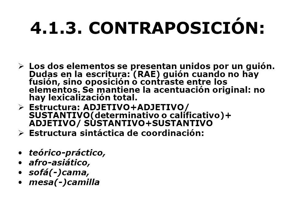 4.1.3. CONTRAPOSICIÓN: