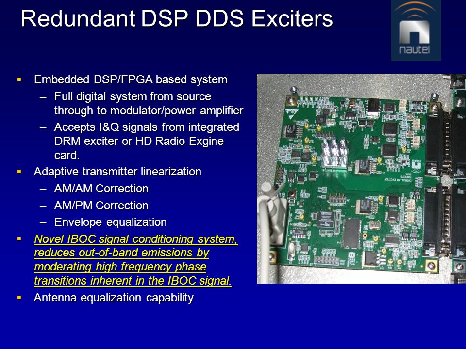 Redundant DSP DDS Exciters