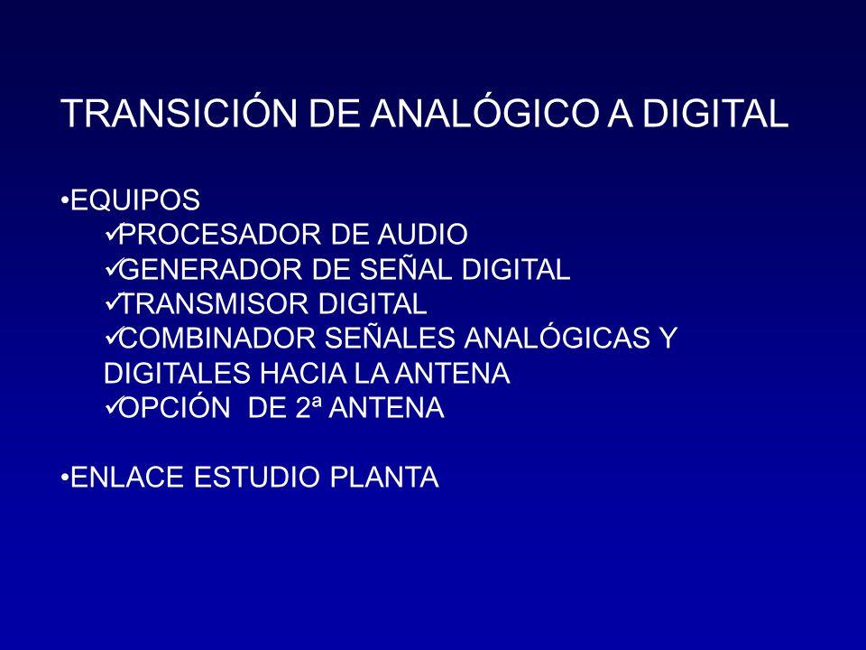 TRANSICIÓN DE ANALÓGICO A DIGITAL