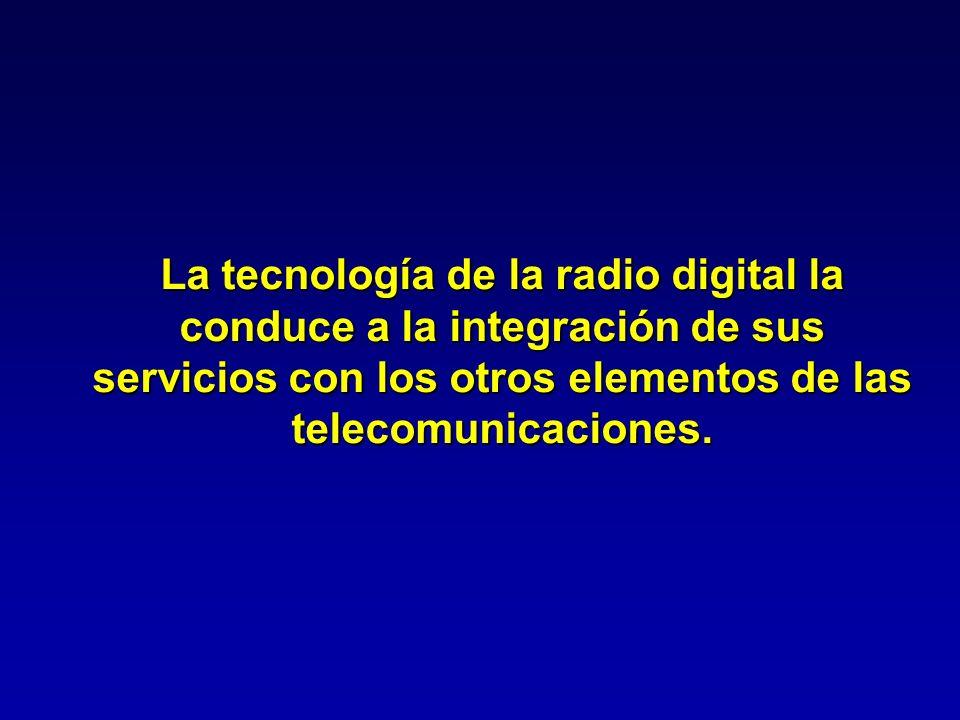 La tecnología de la radio digital la conduce a la integración de sus servicios con los otros elementos de las telecomunicaciones.