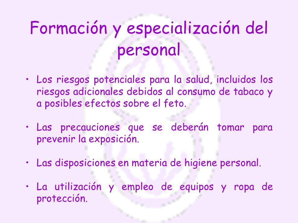 Formación y especialización del personal