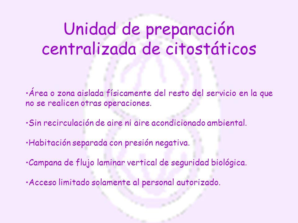 Unidad de preparación centralizada de citostáticos