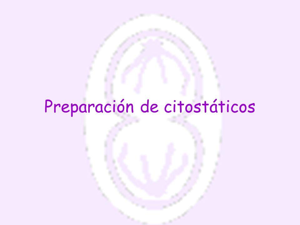 Preparación de citostáticos