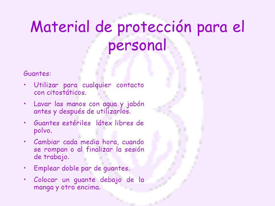 Material de protección para el personal