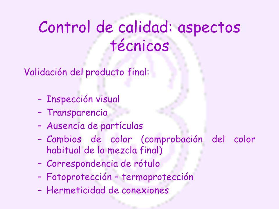 Control de calidad: aspectos técnicos