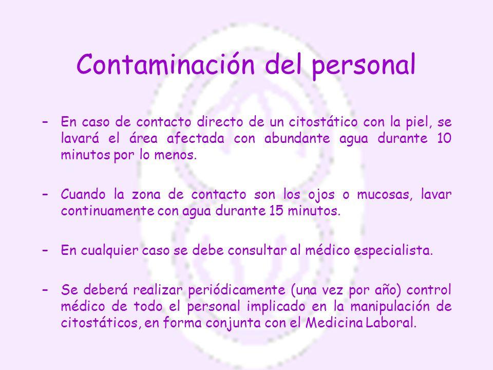 Contaminación del personal