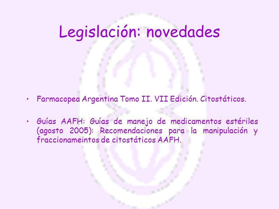 Legislación: novedades