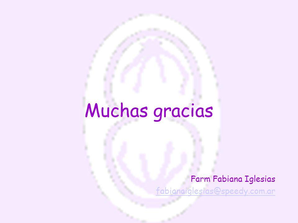 Muchas gracias Farm Fabiana Iglesias fabianaiglesias@speedy.com.ar