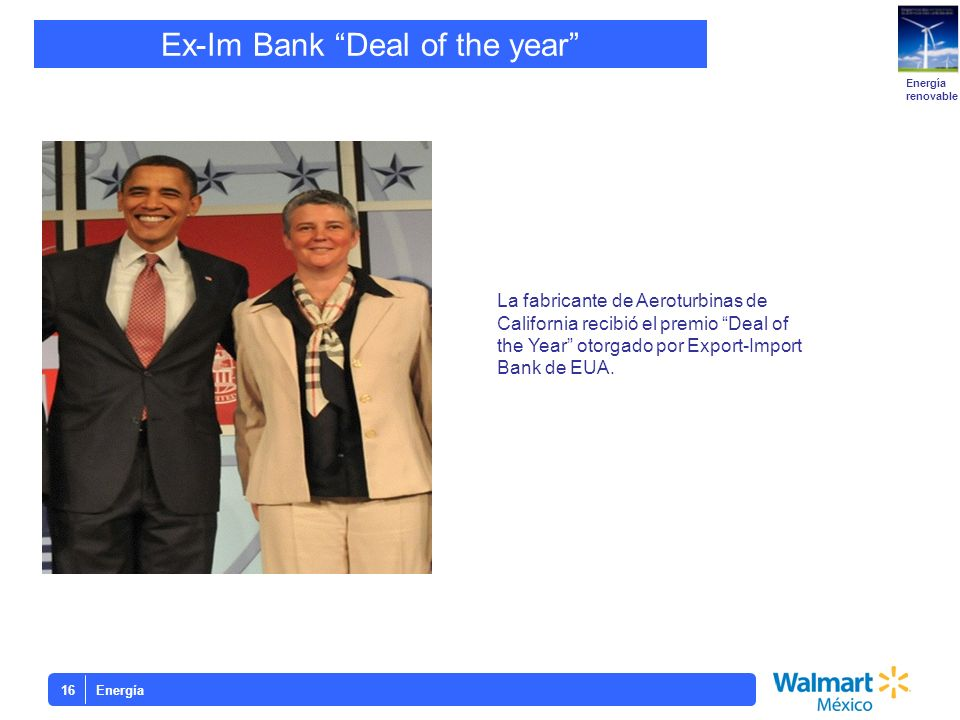 Ex-Im Bank Deal of the year