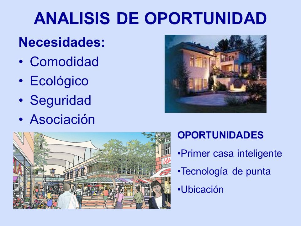 ANALISIS DE OPORTUNIDAD