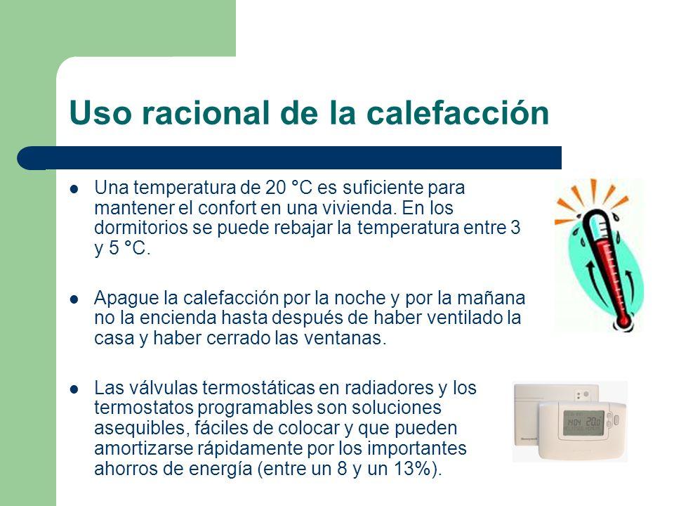 Uso racional de la calefacción