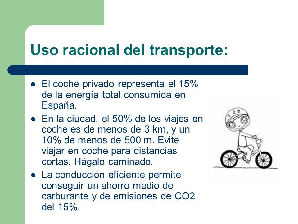 Uso racional del transporte: