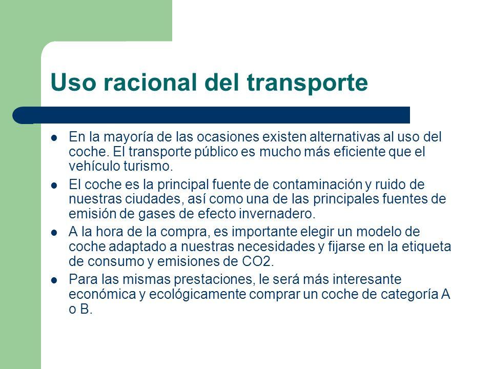 Uso racional del transporte