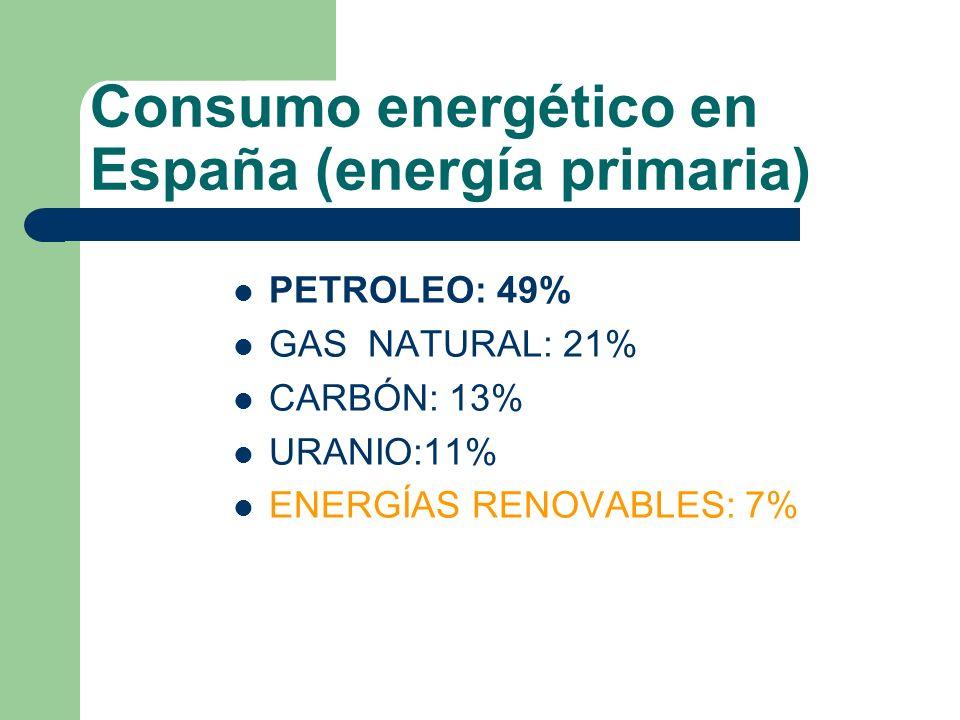 Consumo energético en España (energía primaria)