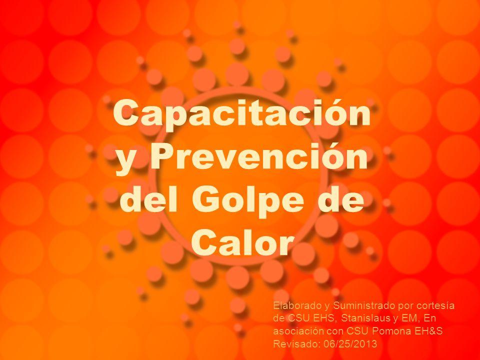 Capacitación y Prevención del Golpe de Calor