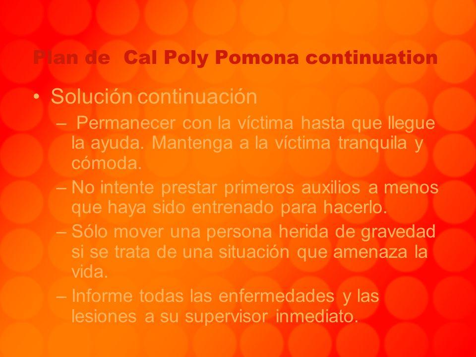 Plan de Cal Poly Pomona continuation